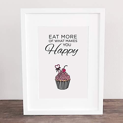 Poster, Kunstdruck, Summer, Sweet, Cupcake, Muffin, Küchenposter, Candy, Kuchen