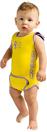 Cressi Infant Baby Warmer - Kinder Neopren Schwimmanzug, Gelb, 6/12 Monate