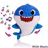YBAXIXIL Requin De Bébé Chanter en Peluche Jouets avec Doux Musique Sonore Chanson Anglais Peluche Cadeaux et Jouets Enfants pour Garçon Fille