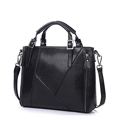 Frau Schultertasche Messenger Bag Handtasche Black