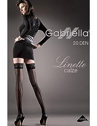 Gabriella Calze Linette 203 Negro Costura Central Hold Ups