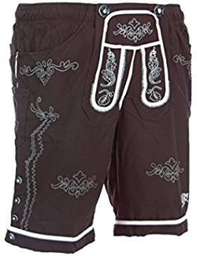 Country Line NEUES Model - Badehose Badelederhose Bermuda in Braun