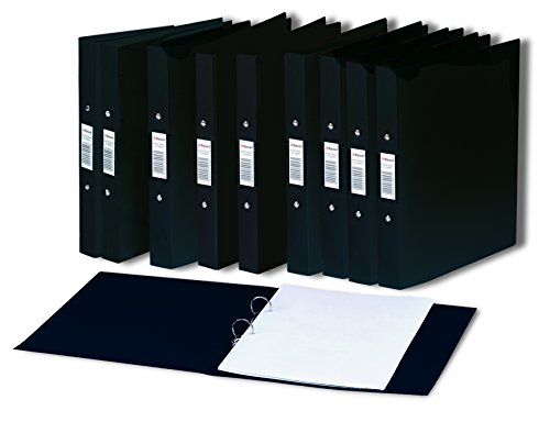 rexel-a5-budget-two-ring-binders-black-pack-of-10