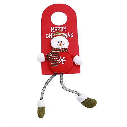 DTWORLD Santa Claus Schneemann Tür Kleiderbügel Zum Aufhängen Anhänger, Weihnachtsbaum Dekoration, Home Ornament Decor (1pc) B Style