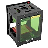 NEJE Stampante Laser Engraver, 1000mW Mini Macchina per Incisione, 490x490 Pixel USB 2,0 Laser Engraver Printer, Doppia Presa USB, Filtro Acrilico con Aspirazione Magnetica