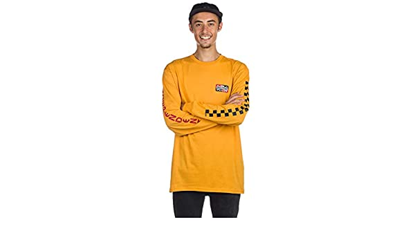 bdf99a7d7c7280 Vans X Independent Checkerboard Longsleeve Tee Sunflower  Amazon.co.uk   Clothing