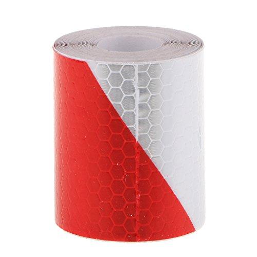 Adesivo-Pellicola-Nastro-Conspicuity-3m-Rosso-Bianco-Avviso-Di-Sicurezza-Riflettente