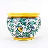 Cache-Pot portavaso in Ceramica Fatto a Mano, Ceramica di Caltagirone