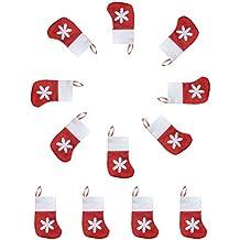 Jentay 12pcs Lovely Mini Media de Navidad para vajilla y tenedor de cubiertos - Cubiertos -