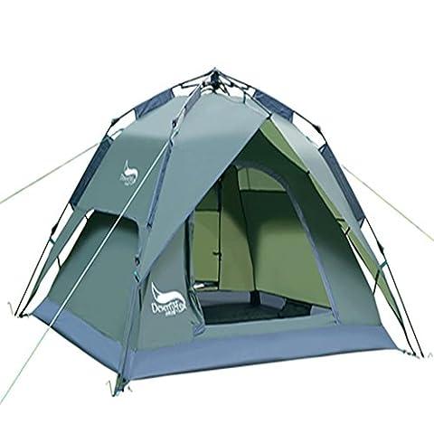 XG Chambre double automatique de 3 à 4 personnes 2000-3000 mm Tente de camping imperméable à l'Oxford