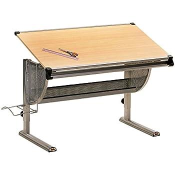 Inter Link Schülerschreibtisch Kinderschreibtisch Arbeitstisch Schreibtisch MDF Ahorn Nachbildung