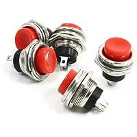 5 Stücke Rot 12Mm Wasserdicht Momentanen Druckknopf Mini Runde Schalter 1A 25 qk