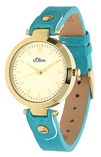 s. Oliver–Reloj de pulsera analógico para mujer cuarzo piel IP oro So de 15094de LQR