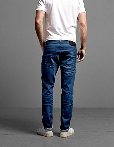 SELECTED HOMME Herren Straight Leg Jeans Two 4174 NOOS I Blau (Medium Blue Denim)