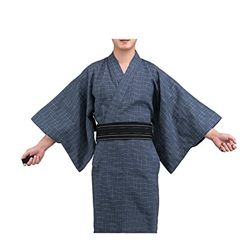 Fancy Pumpkin Kimono japonés de Yukata japonés para Hombres Vestido de Pijamas japonés para el tocador Home # 11