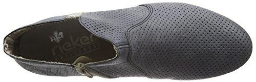 Rieker 71975 Damen Kurzschaft Stiefel Blau (jeans/fango-silver/azur / 14)