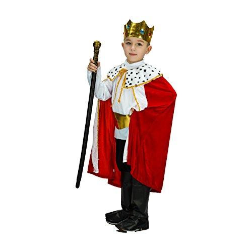Sea Hare Kind Fantasy King Robe und Krone Set Kostüm (7-9 Jahre)