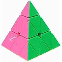 Dodolive Pyraminx Intelligence PinkyColor Stickerless Speed Puzzle Cube Ultra-Smooth Magic Cube