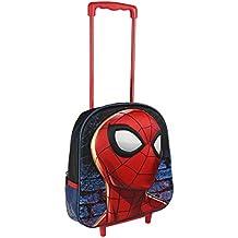 Mochila con Tirador y Ruedas de Spiderman 25x31x10 cm