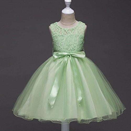 Kleider Mädchen-Prinzessin Spitzenkleid Kleid Tüll Kleid schicke Braut Cinderella Rock 3-10 Jahre , green , (Schickes Kleid Cinderella)