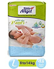 Little Angel Baby Diaper Pants, Large - 48 Count