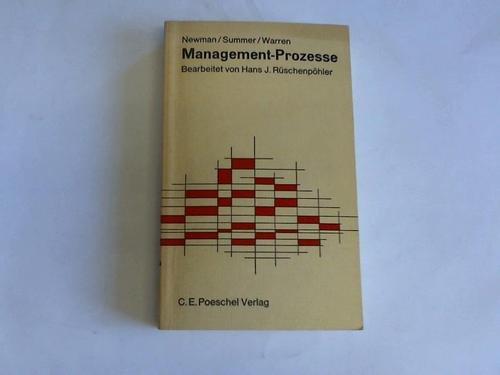 Management-Prozesse. Bearbeitet von Hans J. Rüschenpöhler