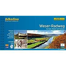 Weser-Radweg: Von Hann. Münden nach Cuxhaven, 1:50.000, 522 km (Bikeline Radtourenbücher)