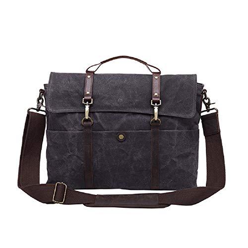 Preisvergleich Produktbild XWH Europäische und amerikanische Herrenhandtaschen, lässige Retro-Herrentaschen, offizielle Umhängetasche im Querschnitt, 15,6-Zoll-Computertasche,4,17 Zoll