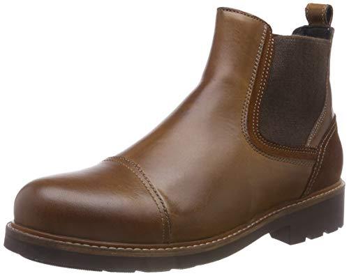 Tommy Hilfiger Herren Active Leather Chelsea Boots, Braun (Winter Cognac 906), 44 EU