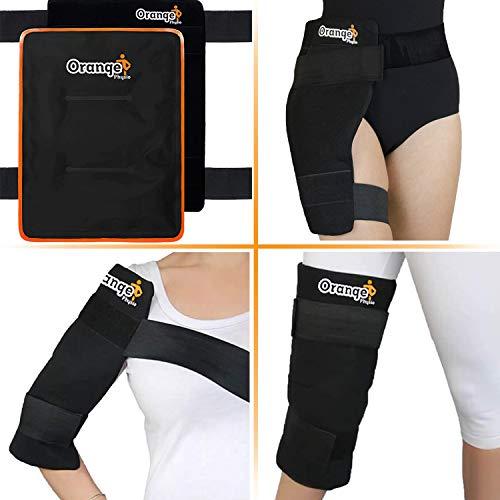 Großes Wärme- und Kältepack für Knie, Hüfte und Rücken - Riesengroß und flexibel: Es bedeckt das gesamte Knie und den ganzen Rücken - Passt sich den Körperkonturen der schmerzhaften Stelle perfekt an und reduziert Schwellungen (von Orange Physio)
