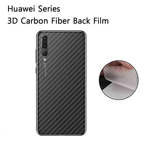 KAIBSEN® 3D Clear Kohlefaser Rückseiten Schirm Schutz Film für Huawei P20/P20 Pro/P20 Lite,Huawei Mate 20/Mate 20 Pro/Mate20 Lite/Mate 20 X,Huawei Honor Magic 2 etc (Nicht ausgeglichener Glasfilm)