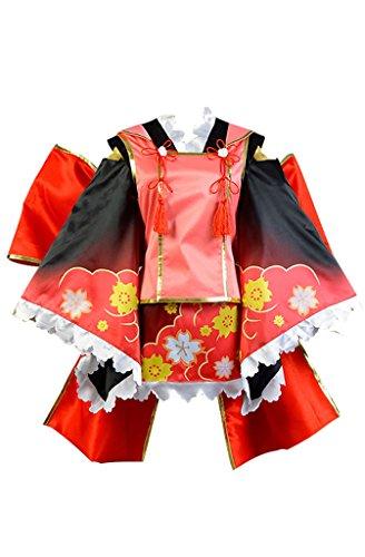 LoveLive! Wake Up! Girls Nico Yazawa Kimono Cosplay Kostüm Damen XXL (Nico Yazawa Kostüm)