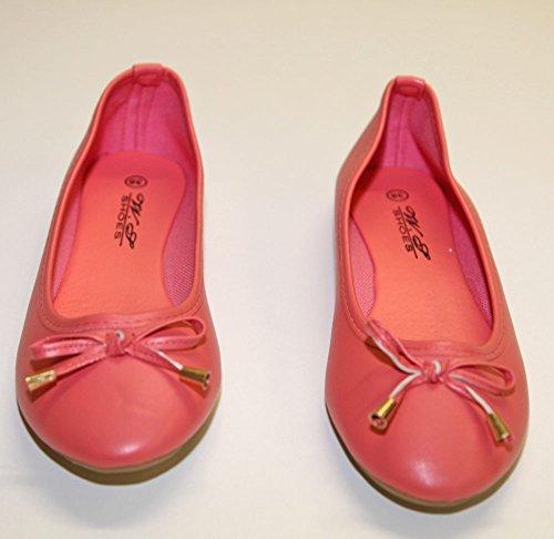 Pierre-cedric Ballerine Donna Finta Pelle Nodo Classique e Moda Corallo