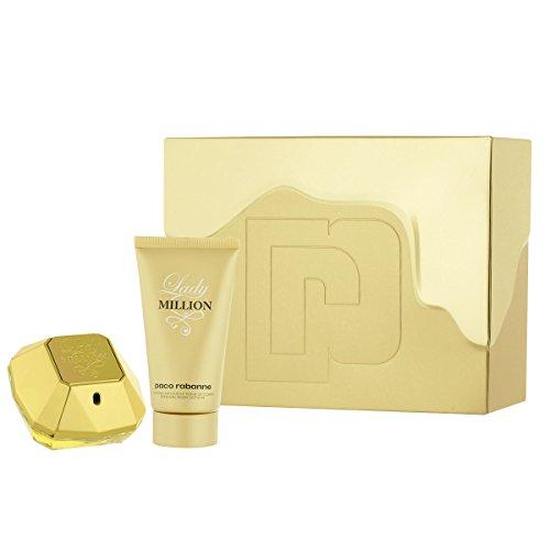 Paco Rabanne Lady Million femme/woman Set (Eau de Parfum (50 ml), Bodylotion (75 ml))