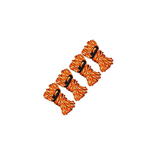 Ultimate Survival Technologies Guy Line Reflective 4-Pack Orange Ropes for Tents