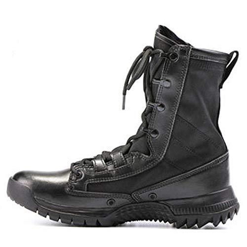 CharmShan Magnum Boots,Kampfstiefel Einsatzstiefel Outdoor Bequeme Lederstiefel, rutschfeste tragbare Wanderschuhe,Black-42(UK8) -