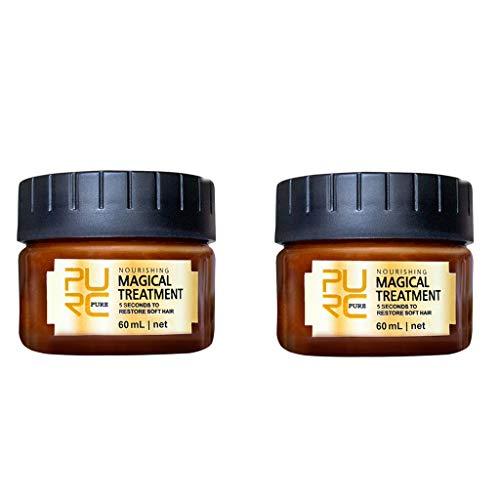 Koojawind 2Pc Hair Detoxifying Hair Mask Advanced Molecular Hair Roots Treatmen Recupera, Maschera per Capelli Perfector per Tutti I Tipi di Capelli