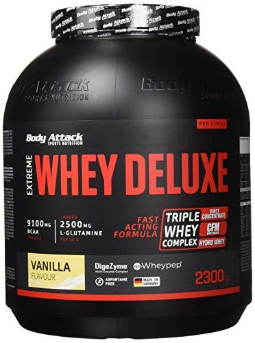 Body Attack Extreme Whey Deluxe, Vanilla Cream, 2,3kg Dose