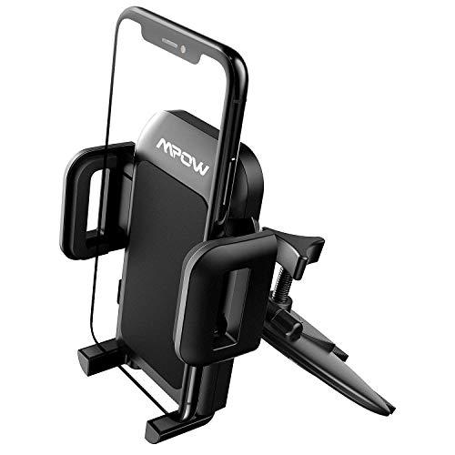 Mpow CD Schlitz Halterung KFZ Handyhalterung Auto für CD Schlitz,kfz smartphone halterung CD Slot Handyhalterung,Handyhalter fürs Auto für iphone11 pro/11 pro max/XS/X/8/7,Galaxy10/9/8/7,LG, HTC usw.