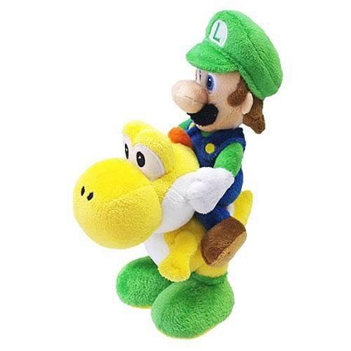 Nintendo Offizielles Super Mario Luigi Reiten Yoshi Plüsch, 20,3cm