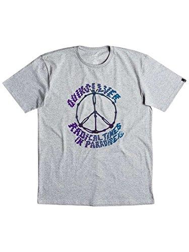 Herren T-Shirt Quiksilver Classic Peace Skull T-Shirt Athletic Heather