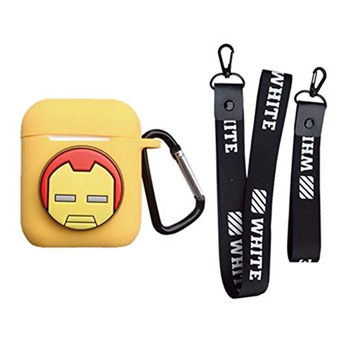 on Silicone The Avengers Case Protective Holder Bag for AirPods Apple Headset Accessories(Iron Man1) ()