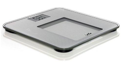 Laica Bilancia PS4010 Pesapersone Elettronica, BMI, Vetro Temperato, 150 kg, grigio