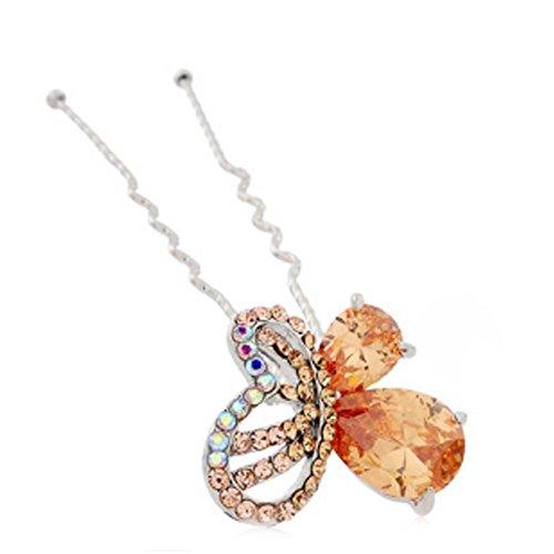 Motif Lady Noble papillon en alliage diamant Hairpin Ornements cheveux