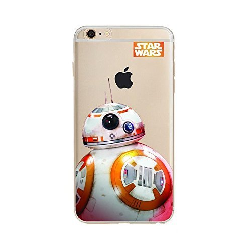 STAR Wars and Marvel Weiche, transparente TPU-Handyhülle for iPhone 5, iPhone 6, iphone7, 7plus und 8plus (iPhone 7/8, STAR Wars - BB8)