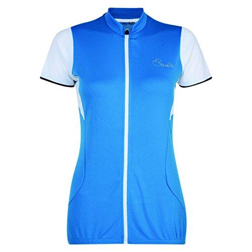 Juwel-blau, Bekleidung (Dare 2B Damen Bestir Fahrrad-Oberteil mit Reißverschluss, kurzärmlig (38 DE) (Blauer Juwel))