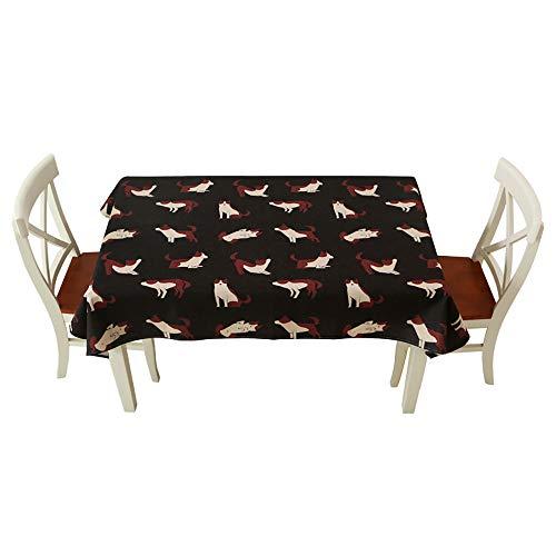 Tischtuch Baumwolle Quadrat Handtuch, Cartoon Tischdecke Rechteckige Wasserdichte Tuch Staubdicht Und Anti-Fouling,B-140 * 210cm
