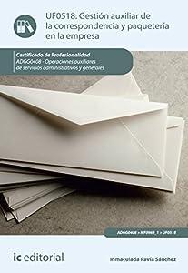 empresas paqueteria: Gestión auxiliar de la correspondencia y paquetería en la empresa. ADGG0408