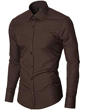 MODERNO - Slim Fit Camisa Formales para Hombre (MOD1426LS)
