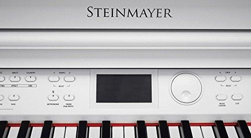 Steinmayer DP-380 WM Digitalpiano (88 Tasten, Holztasten, Hammermechanik, Triple-Sensor-System, LCD, Begleitautomatik, 2 Kopfhöreranschlüsse, 1 Mikrofonanschluss mit eigenen EQ-Einstellungen und Effekten, MP3 Player) weiß matt - 7
